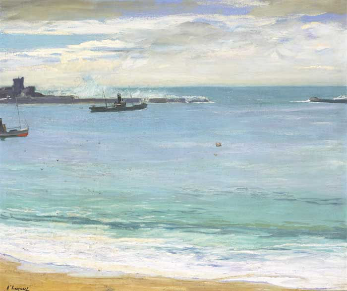 STEAMERS IN THE HARBOUR, ST. JEAN DE LUZ by Sir John Lavery sold for �28,000 at Whyte's Auctions