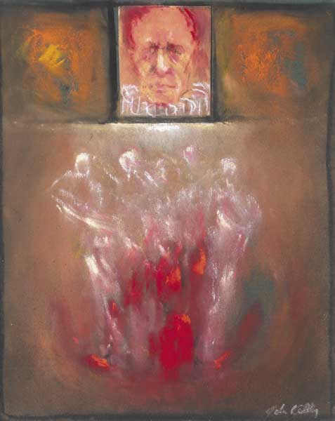 AUDIENCE FOR A CLOWN, c.1990s by John Kelly sold for �400 at Whyte's Auctions