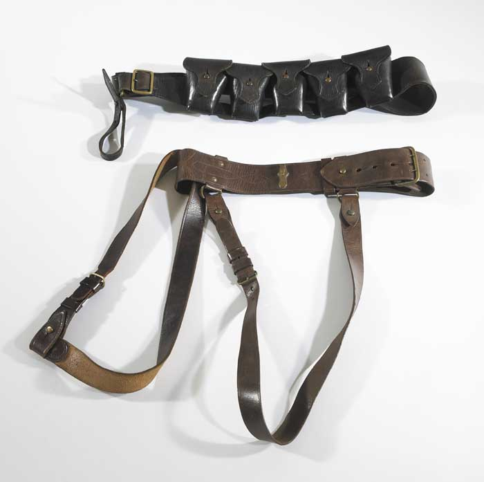 1922: Bandolier and Sam Browne belt at Whyte's Auctions