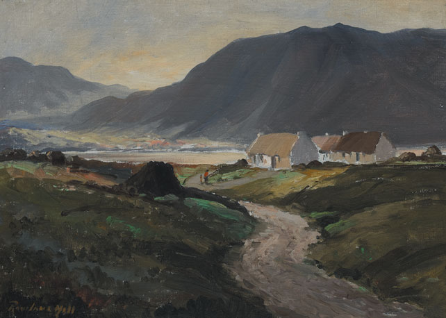 EVENING NEAR GLENTIES, COUNTY DONEGAL by Rowland Hill ARUA (1915-1979) at Whyte's Auctions