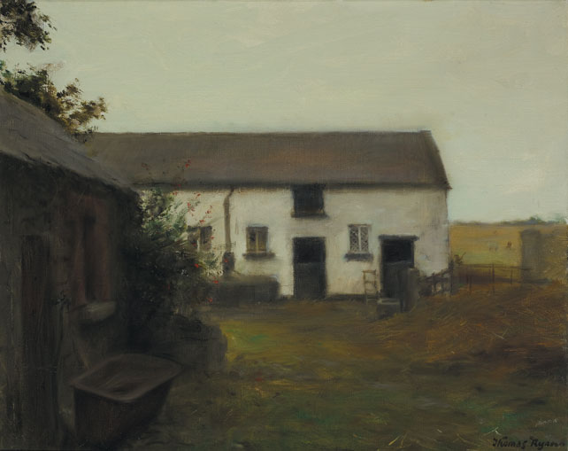 FARMHOUSE, c.1989 by Thomas Ryan PPRHA (b.1929) at Whyte's Auctions