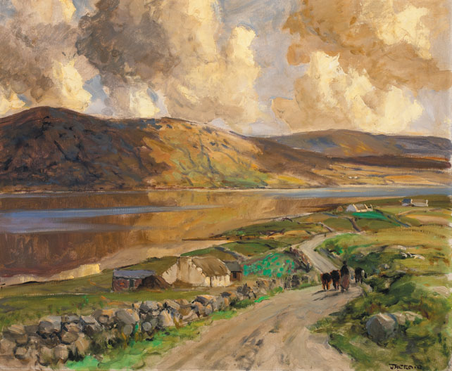 LOCH DUNLEWY, COUNTY DONEGAL by James Humbert Craig RHA RUA (1877-1944) at Whyte's Auctions