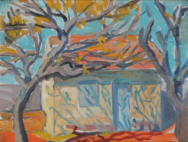 HOUSE WITH A RED ROOF by Mary Swanzy HRHA (1882-1978) at Whyte's Auctions