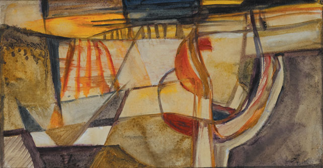 BATHING POOL and WINTER SUNSET (A PAIR) by Olive Henry RUA (1902-1989) at Whyte's Auctions