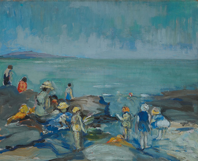 CHILDREN AT PORTMARNOCK, c.1929 by Eva Henrietta Hamilton (1876-1960) at Whyte's Auctions