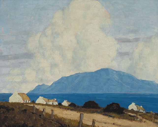 WEST OF IRELAND LANDSCAPE, 1925-1935 by Paul Henry sold for �106,000 at Whyte's Auctions