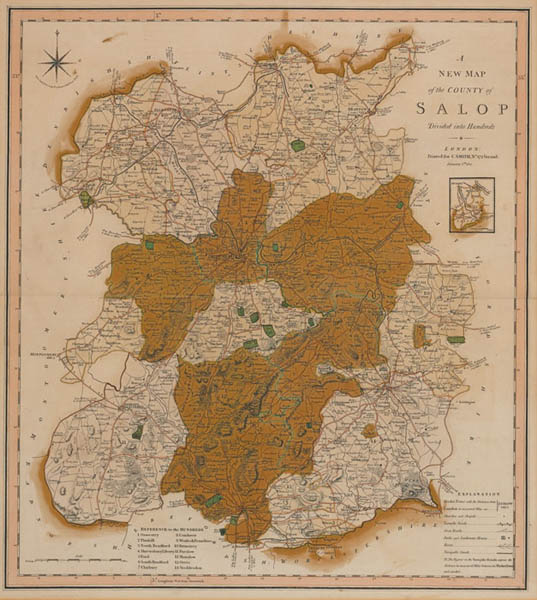 1614: John Speed map of Shropshire at Whyte's Auctions