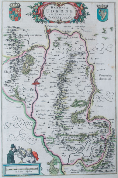 1654: Baronia Udrone Carlow Blaeu map at Whyte's Auctions
