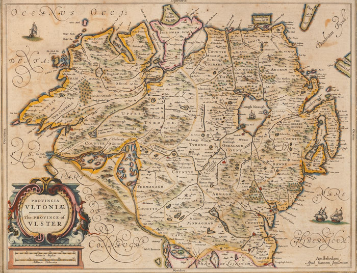 1659: Jan Jansson Provincia Ultonia The Province of Ulster map at Whyte's Auctions