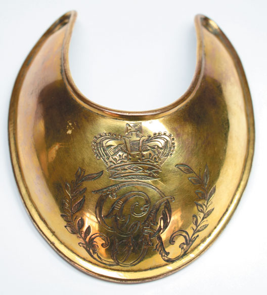1796-1830: Georgian Officer's Universal Pattern gorget at Whyte's Auctions