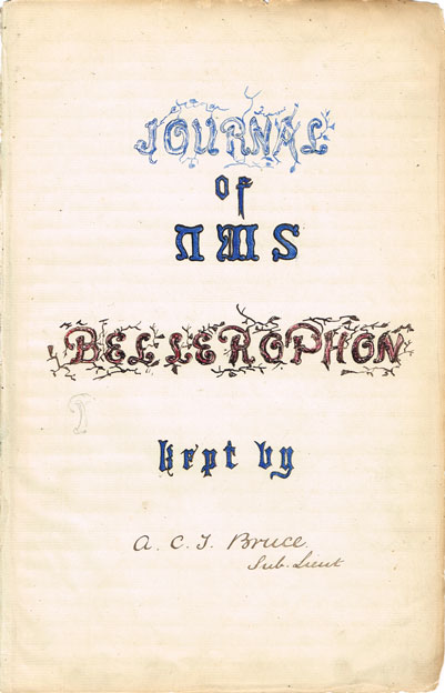 1871-74: Naval Log Book Journal of HMS Bellerophon written by Sub Lieutenant A.C.T. Bruce at Whyte's Auctions