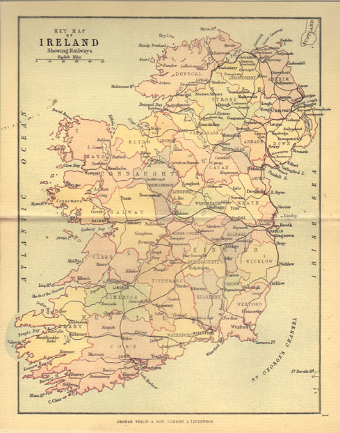 1885: Philip's Handy Atlas of the Counties of Ireland at Whyte's Auctions