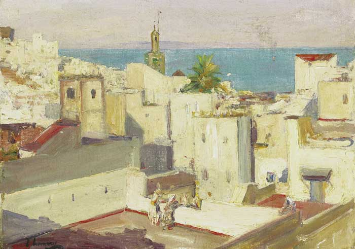 THE HOUSE-TOPS, TANGIER, 1912 by Sir John Lavery sold for �23,000 at Whyte's Auctions