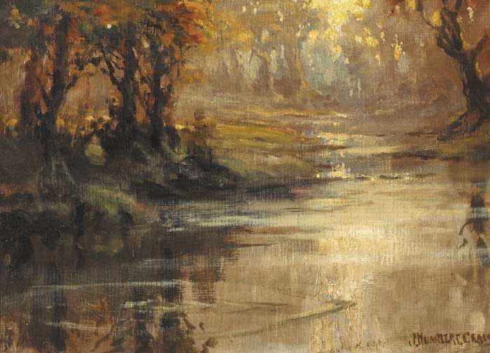 RIVER AT SUNSET by James Humbert Craig RHA RUA (1877-1944) at Whyte's Auctions
