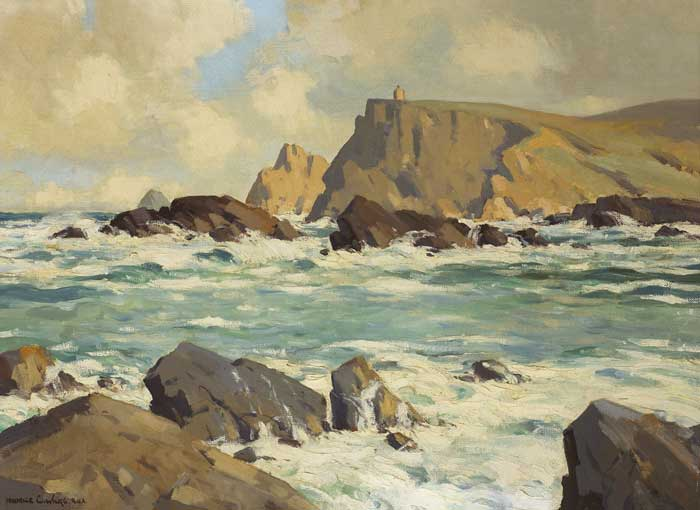 GLEN HEAD, GLENCOLUMBKILLE, COUNTY DONEGAL by Maurice Canning Wilks RUA ARHA (1910-1984) RUA ARHA (1910-1984) at Whyte's Auctions