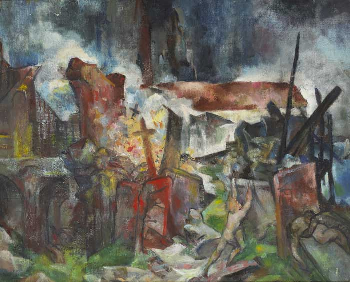 WAR by Mary Swanzy HRHA (1882-1978) at Whyte's Auctions