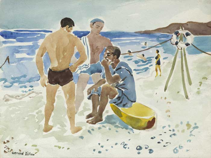 BATHERS, c.1951 by Gerard Dillon (1916-1971) (1916-1971) at Whyte's Auctions