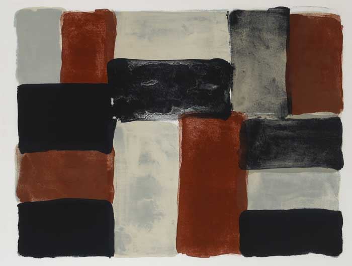 PARIS RED WALL, 2004 by Sean Scully (b.1945) at Whyte's Auctions