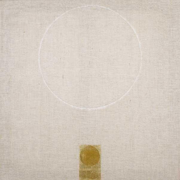 GOLD PAINTING 7/92 by Patrick Scott HRHA (b.1921) at Whyte's Auctions
