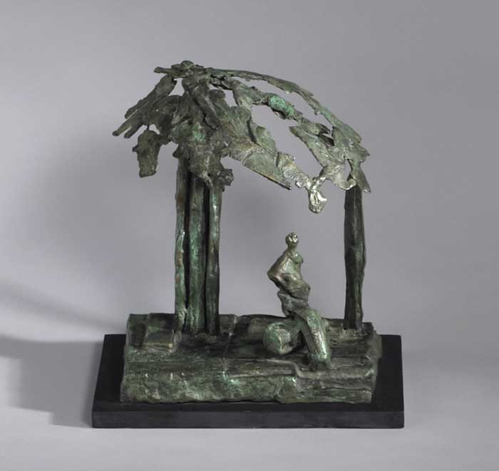 FIGURES UNDER A CANOPY OF LEAVES by John Coen (b.1941) at Whyte's Auctions