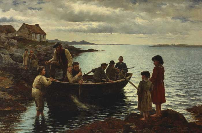 THE RETURN FROM THE SEAL-HUNT, 1881 by William Henry Bartlett RBA (1858-1932) at Whyte's Auctions