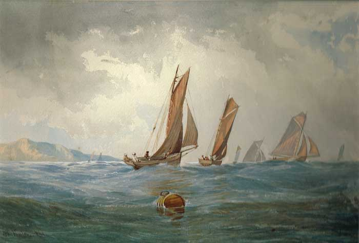 SCHOONERS IN A SEASCAPE by John Faulkner RHA (1835-1894) at Whyte's Auctions