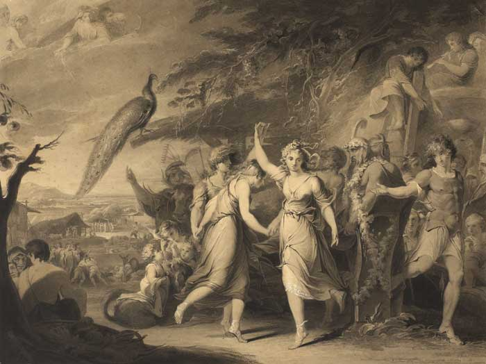 AN EARLY SKETCH OF JAMES BARRY'S A GRECIAN HARVEST-HOME [THE PROGRESS OF HUMAN CULTURE] c.1777-1784 at Whyte's Auctions