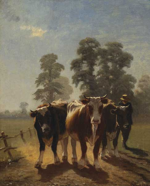 CATTLE DRIVER by Augustus Nicholas Burke RHA (1838-1891) at Whyte's Auctions