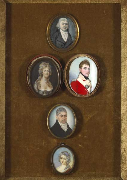 COLLECTION OF FIVE PORTRAIT MINIATURES, c.1800s at Whyte's Auctions