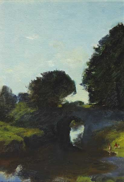 BRIDGE ON BROADMEADOW RIVER, 1979 by Thomas Ryan PPRHA (b.1929) at Whyte's Auctions