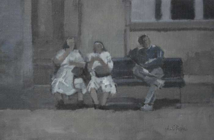 NUNS IN FLORENCE by John Christopher Brobbel RBA (b.1950) at Whyte's Auctions