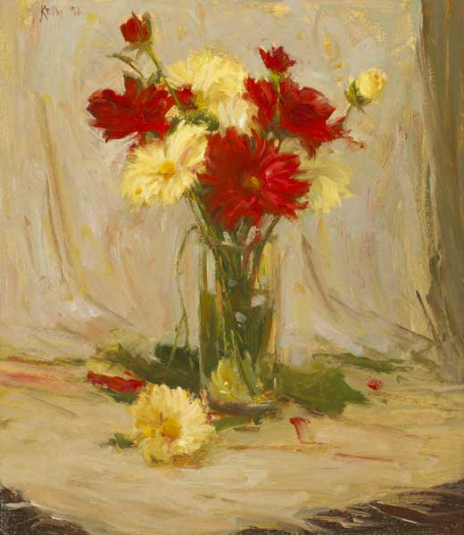 FLOWERS IN A GLASS, 1992 by Paul Kelly (b.1968) (b.1968) at Whyte's Auctions