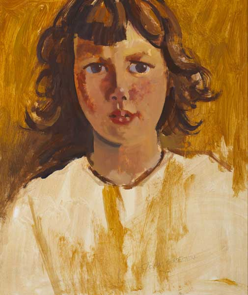 ARAN ISLAND GIRL, SORCHA by John Skelton (1923-2009) at Whyte's Auctions