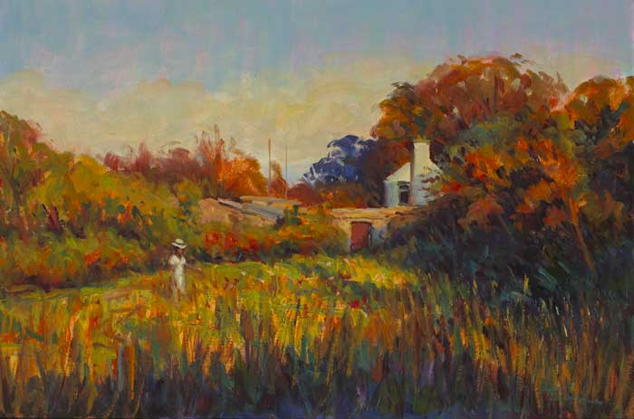 A WALK IN THE EVENING SUN by Norman Teeling  at Whyte's Auctions