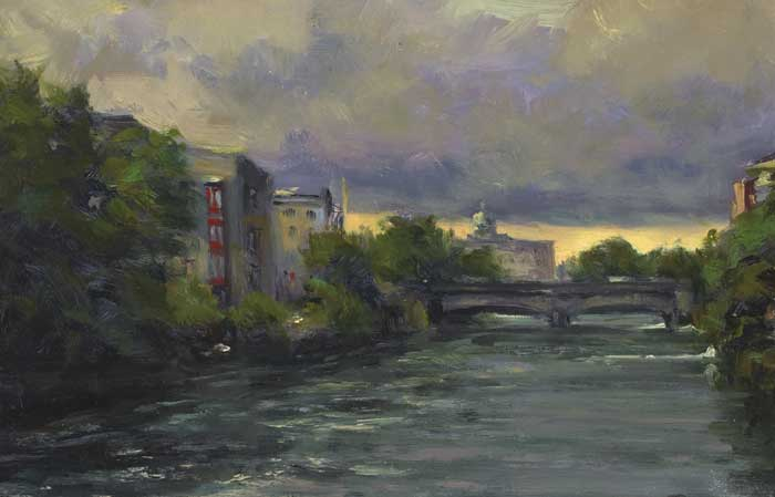 THE CORRIB, COUNTY GALWAY by Norman Teeling (b. 1944) at Whyte's Auctions