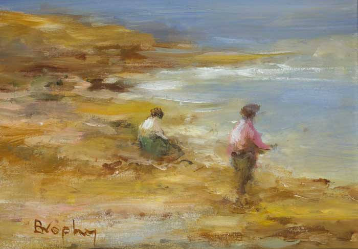 FIGURES ON THE SHORE by Elizabeth Brophy (20th/21st Century) at Whyte's Auctions