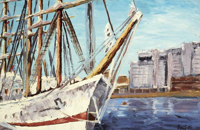 TALL SHIPS, DUBLIN PORT, 1998 by Ivan Sutton (b.1944) at Whyte's Auctions