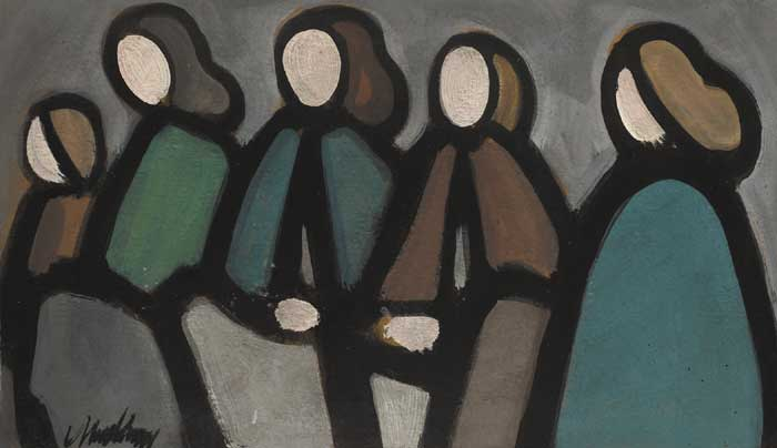 FIVE WOMEN, 1983 by Markey Robinson (1918-1999) at Whyte's Auctions