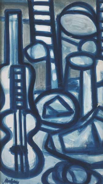 BLUE STILL LIFE, 1982 by Markey Robinson (1918-1999) at Whyte's Auctions