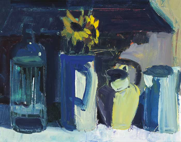 FLOWERS AND JUGS, 1996 by Brian Ballard RUA (b.1943) RUA (b.1943) at Whyte's Auctions
