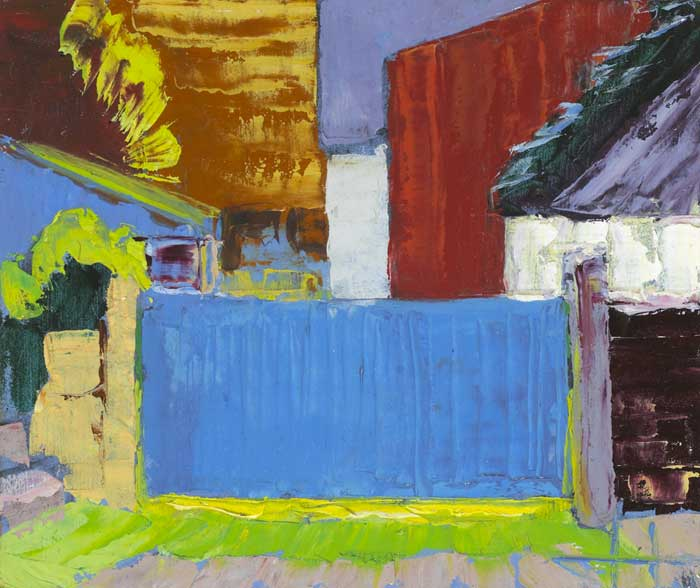 THE BLUE GATE, 2009 by John Jobson (b.1941) at Whyte's Auctions