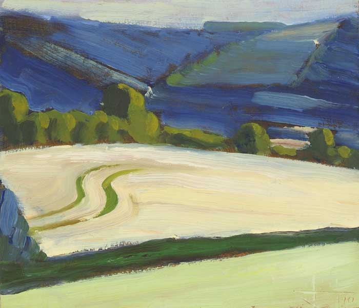 BARLEY TRACKS, 2010 by John Jobson (b.1941) at Whyte's Auctions