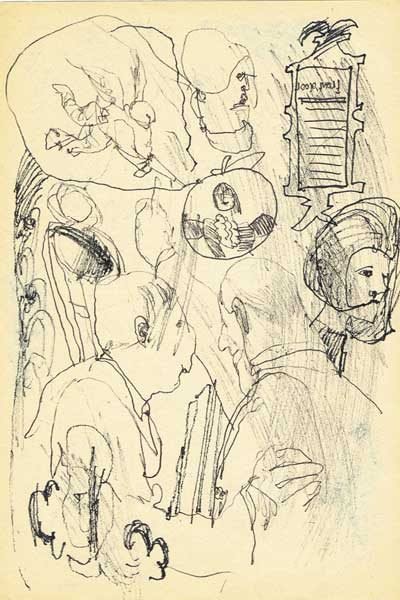 COLLECTION OF 19 INK DRAWINGS, 1968 by Piet Sluis (1929-2008) (1929-2008) at Whyte's Auctions
