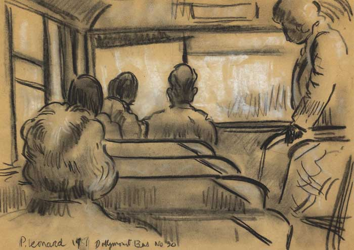 DOLLYMOUNT BUS, No. 20, 1957 by Patrick Leonard HRHA (1918-2005) at Whyte's Auctions