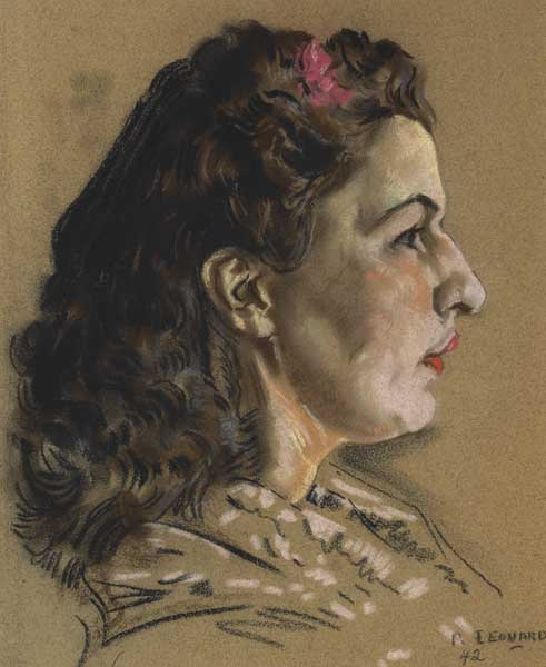 PORTRAIT OF MAUREEN GUINNESS, 1942 by Patrick Leonard HRHA (1918-2005) at Whyte's Auctions