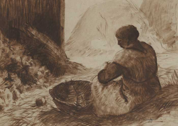 WOMAN SEATED WITH A BASKET, 1938 and HEAD OF A YOUNG BOY (A PAIR) by Patrick Leonard HRHA (1918-2005) at Whyte's Auctions