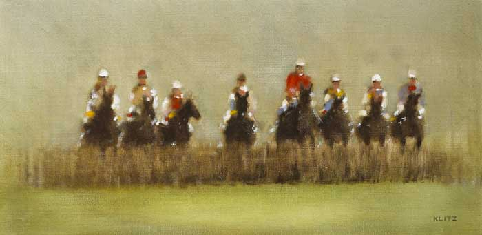 RACING AT CHELTENHAM, c.1980 by Anthony Robert Klitz (1917-2000) at Whyte's Auctions
