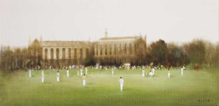 CRICKET AT CHELTENHAM, c.1981 by Anthony Robert Klitz (1917-2000) at Whyte's Auctions