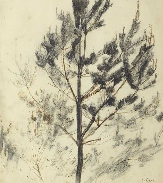 PINE TREES by Tom Carr HRHA HRUA ARWS (1909-1999) at Whyte's Auctions