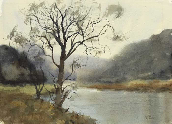 RIVER LANDSCAPE by Tom Carr HRHA HRUA ARWS (1909-1999) at Whyte's Auctions